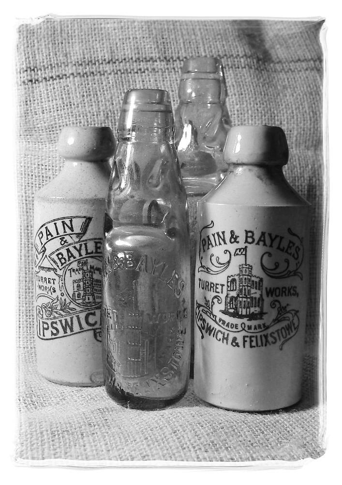 Vintage Victorian Bottles   by AndyLanhamArt