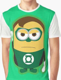 Despicable Me Minions Superheros Green Lantern Graphic T-Shirt
