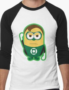 Despicable Me Minions Superheros Green Lantern Men's Baseball ¾ T-Shirt