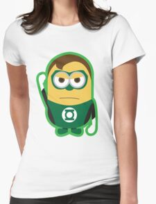 Despicable Me Minions Superheros Green Lantern Womens Fitted T-Shirt