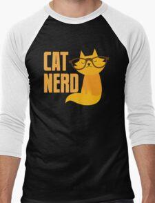 CAT NERD (professional vet or self-proclaimed expert on cats!) Men's Baseball ¾ T-Shirt