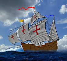 Christopher Columbus Explorations 1492 by Dennis Melling
