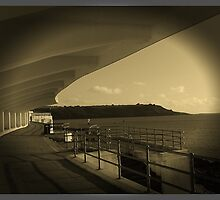 Plymouth Hoe, in sepia by helenoftruro