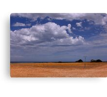 Big sky and scorched earth Canvas Print