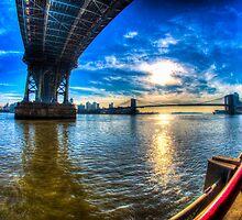Manhattan Bridge and Brooklyn Bridge by Timothy Borkowski