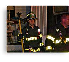 Fireman At Work In My Neighborhood Canvas Print