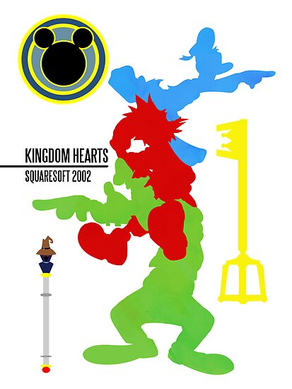 Kingdom Hearts Minimal Poster by TheDorknight