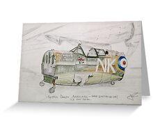 Spitfire Mk 1 cockpit at Brooklands Greeting Card