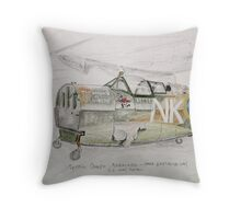 Spitfire Mk 1 cockpit at Brooklands Throw Pillow