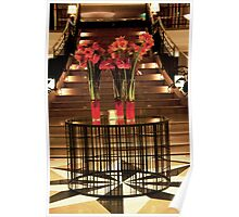 Staircase Bouquets Poster