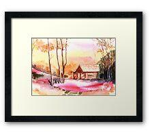 Rest house Framed Print