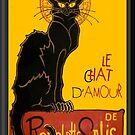 Le Chat D'Amour Greeting Card by taiche
