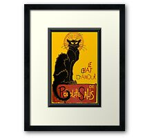 Le Chat D'Amour Greeting Card Framed Print