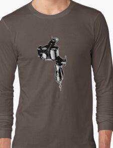 Tattoo Machine Gun Pop Art Long Sleeve T-Shirt
