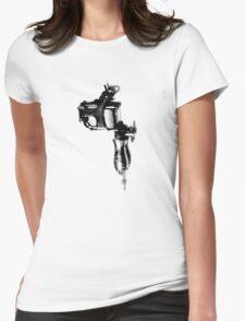 Tattoo Machine Gun Pop Art Womens Fitted T-Shirt