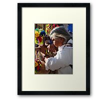 Seller - Vendedora Framed Print