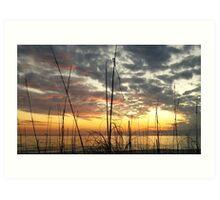 """""""dancing at sunset"""" Art Print"""