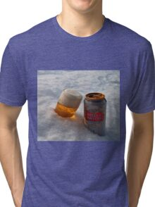 Beer in the snow Tri-blend T-Shirt