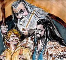 Thorin, Bilbo and Gandalf, a story of friendship by jos2507