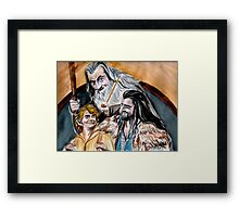 Thorin, Bilbo and Gandalf, a story of friendship Framed Print