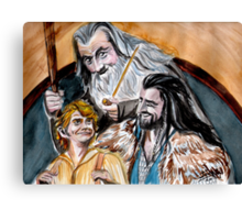 Thorin, Bilbo and Gandalf, a story of friendship Canvas Print