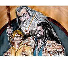 Thorin, Bilbo and Gandalf, a story of friendship Photographic Print