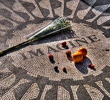 Strawberry Fields - John Lennon Memorial by Timothy Borkowski