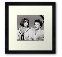 Judy and Barbra Framed Print