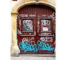 Graffiti, Zagreb, Croatia Photographic Print