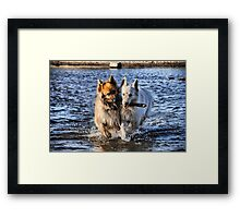 Wet and Sticky Framed Print