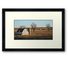 White Barn & Silo Framed Print