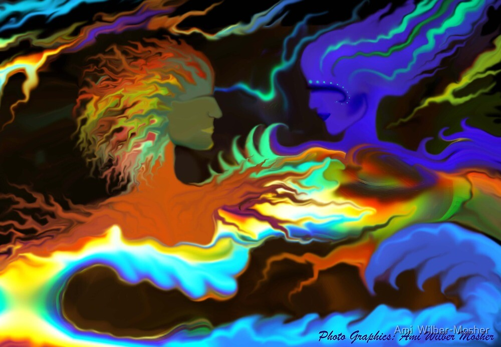 Northern Lights Series: Fire and Water (Opposites Attract) by Ami  Wilber-Mosher