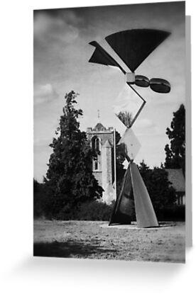 Latton Church and Sculpture  by Nigel Bangert