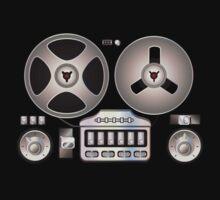 Tape Recorder Retro Magnetophon  One Piece - Short Sleeve