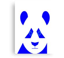 AnimalKingdom - Blue Panda Canvas Print
