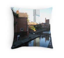 Beetham Tower from Lock 92 Throw Pillow