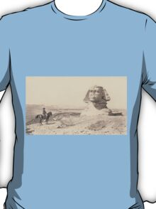 NAPOLEON and the Sphinx. Antique Book Art Reproduction T-shirt. T-Shirt