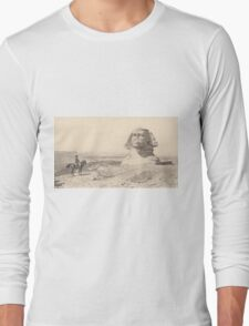 NAPOLEON and the Sphinx. Antique Book Art Reproduction T-shirt. Long Sleeve T-Shirt
