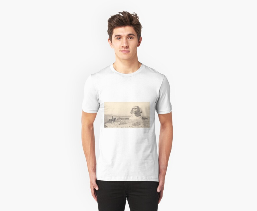 NAPOLEON and the Sphinx. Antique Book Art Reproduction T-shirt. by Richard Bradley Bonds