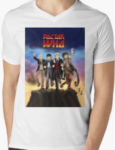 'Doctor Who meets KISS' Version 1 Mens V-Neck T-Shirt