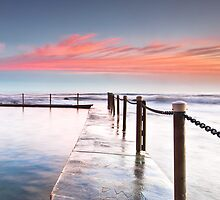 Pink Pillows - Newport Beach NSW by Andrew Kerr