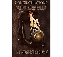 BANNER FOR VINTAGE RETRO CLASSIC GROUP Photographic Print
