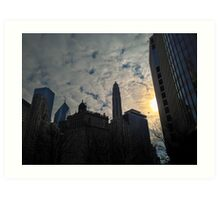 City Clouds Art Print