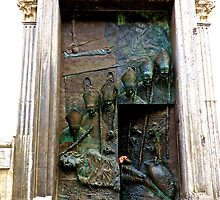 Doors of Saint Nicholas' Cathedral, Ljubljana, Slovenia by christazuber