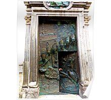 Doors of Saint Nicholas' Cathedral, Ljubljana, Slovenia Poster