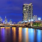 Melbourne City Lights, Victoria, Australia by Michael Boniwell