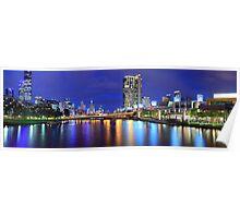 Melbourne City Lights, Victoria, Australia Poster