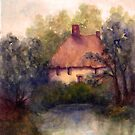 COTTAGE AND POND by Mary  Lawson