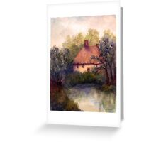 COTTAGE AND POND Greeting Card