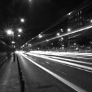 Madrit Street at Night by Pawel J